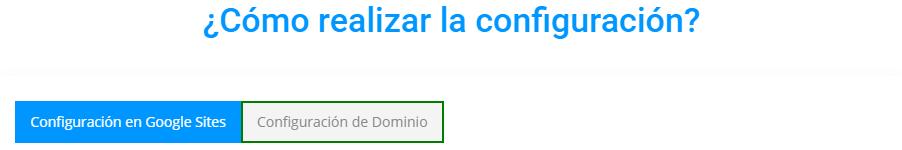 Dominio, Google Sites.
